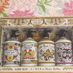 Other - Italian Deruta Hand Soap Collection